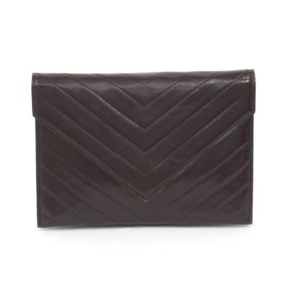 vintage ysl black clutch bag