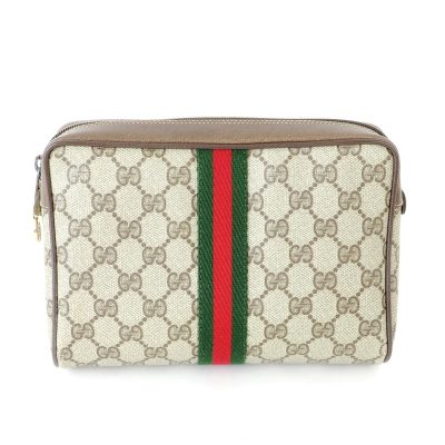 Vintage Gucci Box Monogram Excellent  Clutch Bag