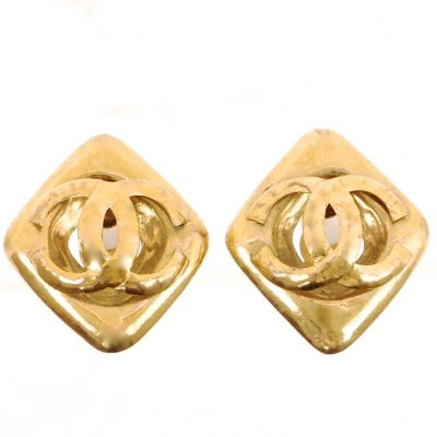 Vintage Chanel Extra Jumbo Diamond Shape Earrings