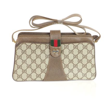 Vintage Gucci Monogram Canvas Excellent  Shoulder Bag