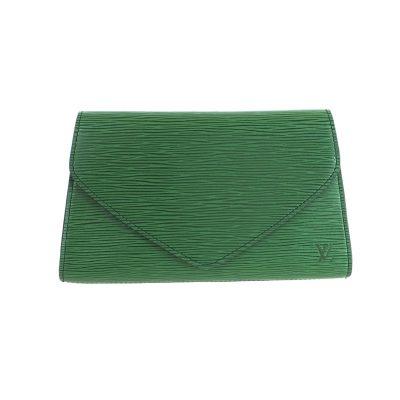 Vintage Louis Vuitton Epi Green Art Deco M52644 Pristine  Clutch Bag