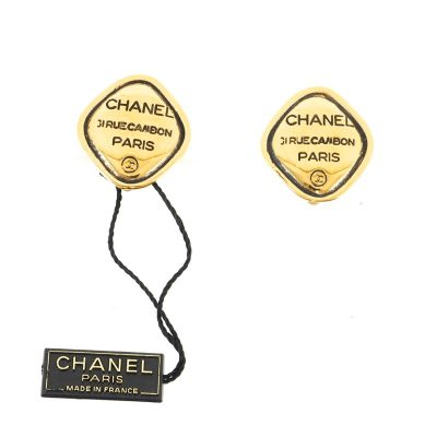 Vintage Chanel NWT 31 Rue Cambon Diamond Shaped Earrings