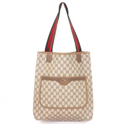 Vintage Gucci Large Monogram Tote Shoulder Hand Bag