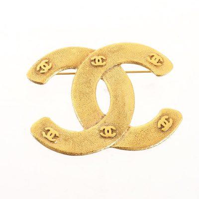 Vintage Chanel Large CC Logo Pin Excellent  Brooch