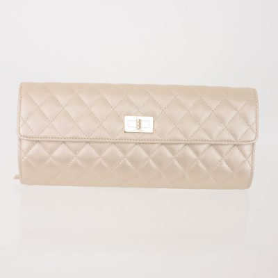 Vintage Chanel VIP Quilted Clutch Case NIB Accessory