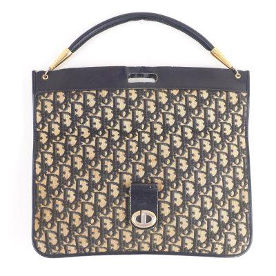 Vintage Christian Dior Monogram Bi Fold Clutch  Hand Bag