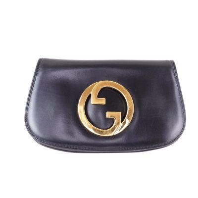 Vintage Gucci Medallion GG Leather Mint Clutch Bag