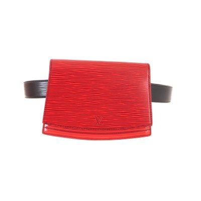 Vintage Louis Vuitton Epi Red Pochette Ceinture Tilsitt Belt M52607 Waist Bag