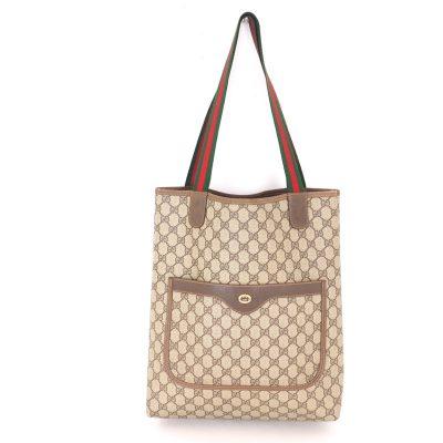 Vintage Gucci Excellent Condition Monogram Large Tote Shoulder Bag