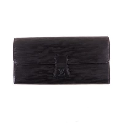Vintage Louis Vuitton M48352 Bijoux Case Clutch Epi Black Pouch