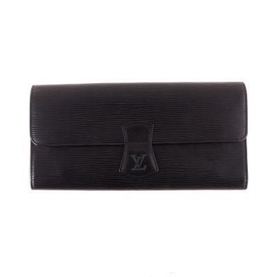 Vintage Louis Vuitton M48352 Bijoux Case Clutch Epi Black Pouch