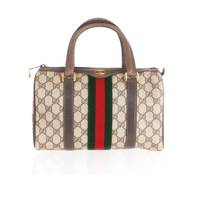 Vintage Gucci Mini Monogram Speedy Boston Hand Bag