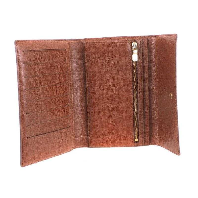df1e09745b17 Vintage Louis Vuitton Tri fold Pochette Passport M60135 LV Monogram Wallet