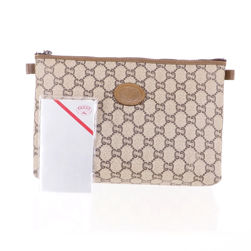 ae6f031b37903b Vintage Gucci Plus Monogram Rare Cosmetic Clutch Bag - Nina ...