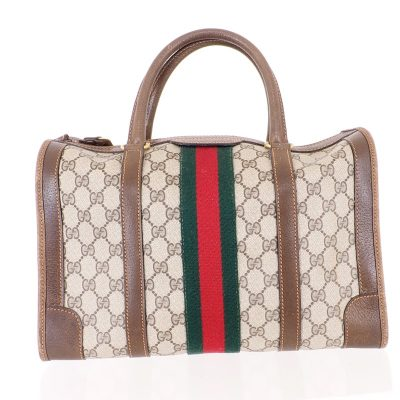 Vintage Gucci Large Monogram Speedy Boston  Hand Bag