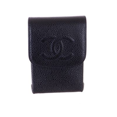 Vintage Chanel NIB Pristine Caviar Box Case Pouch
