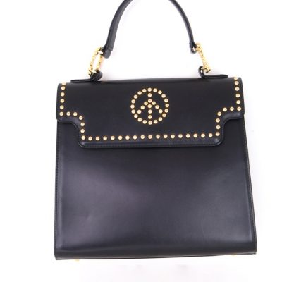 Vintage Moschino Peace Studded Mint  Hand Bag
