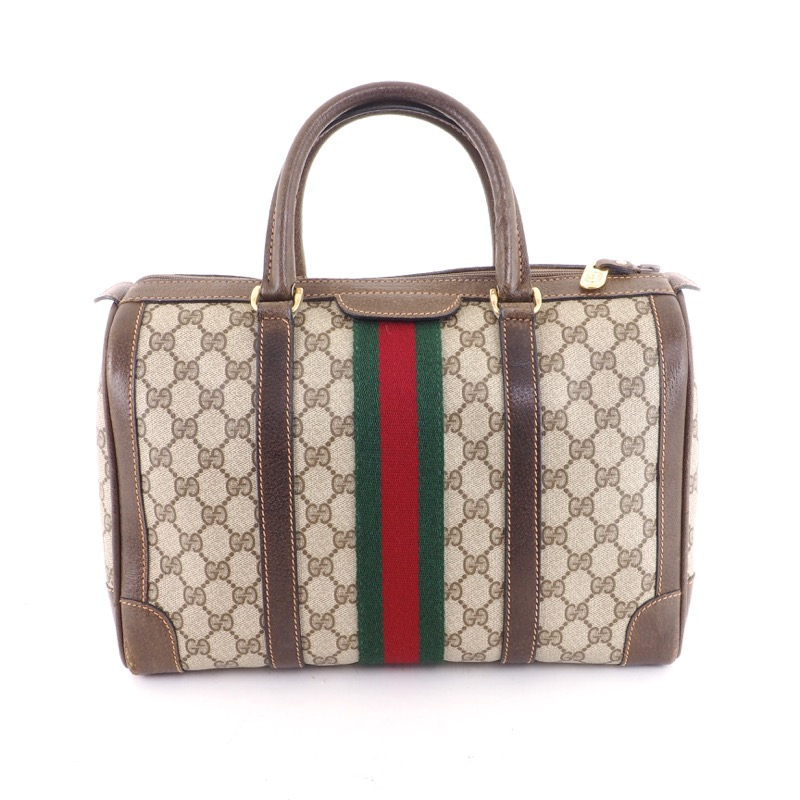 d6b57c91c7a Vintage Gucci Speedy Monogram Duffle Signature Hand Bag - Nina ...
