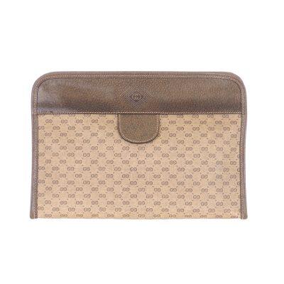 Vintage Gucci Micro GG Monogram 1970's Rare Clutch Bag