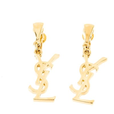 Vintage Yves Saint Laurent NIB w/Tags YSL Gold Excellent Earrings