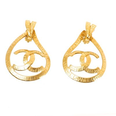 Vintage Chanel Tear Drop Dangle XL Jumbo 96P Earrings