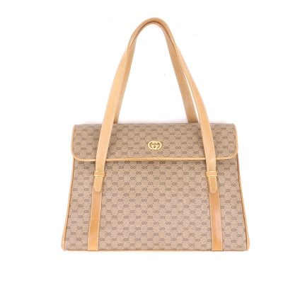 Vintage Gucci Micro GG Rare Shoulder Flap  Hand Bag