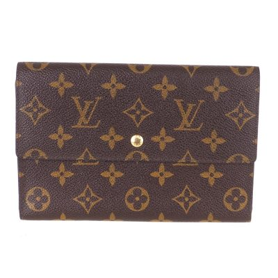 Vintage Louis Vuitton M60135 Pochette Passport Trifold Case Pouch