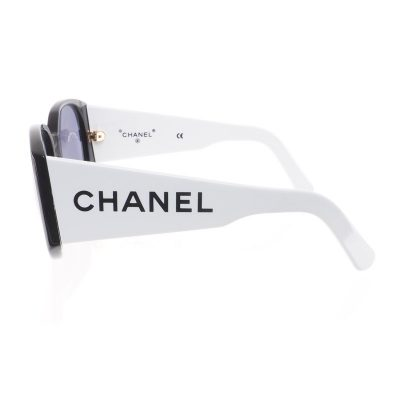 Vintage Chanel Extra Large Wide Bi Color  Sunglasses