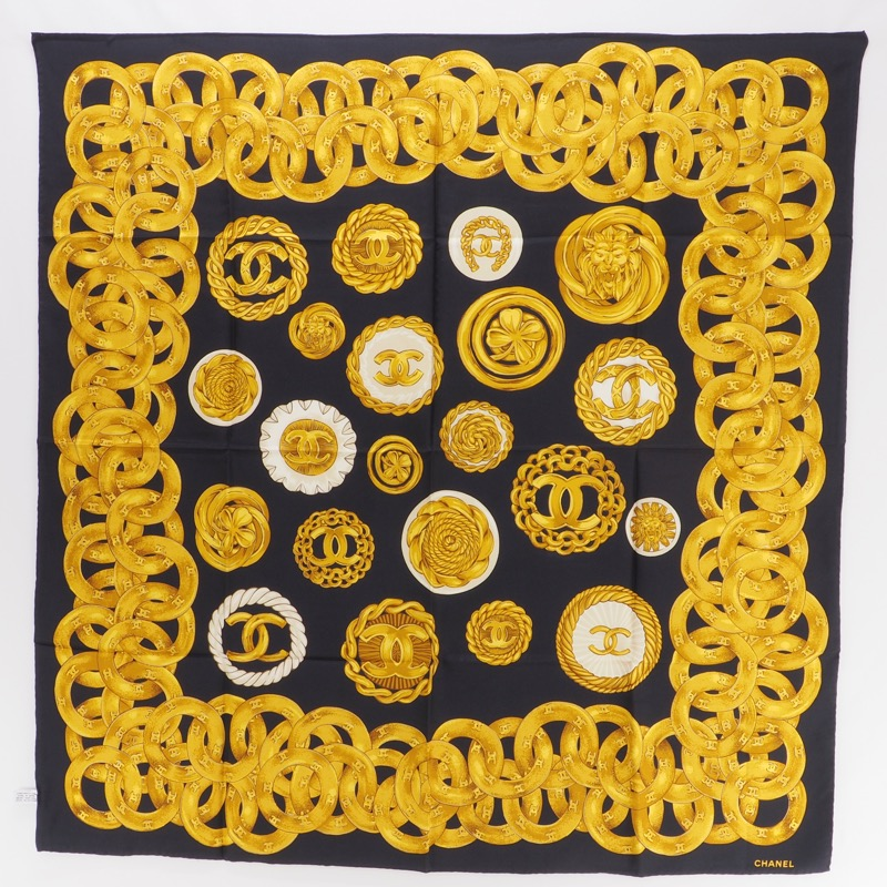 c429339b3 Vintage Chanel Massive Bijoux Printed Extra Large Shawl Wrap Scarf ...