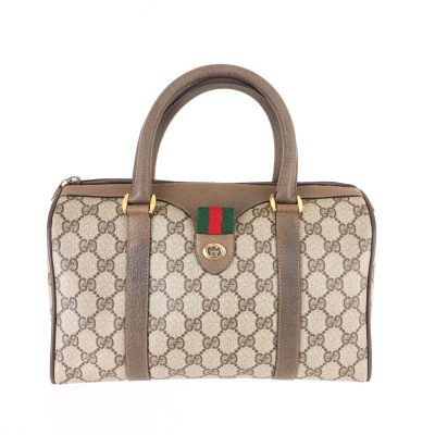 Vintage Gucci Monogram GG Medium Speedy  Hand Bag