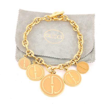 Vintage Gucci 92 5cm Massive Charm Dangle Chain Choker Necklace
