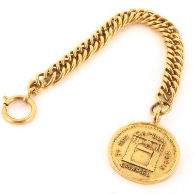Vintage Chanel Cambon Massive Charm Chain Bracelet