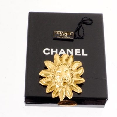 Vintage Chanel NWT Lion Leo Gold Excellent Pin Brooch