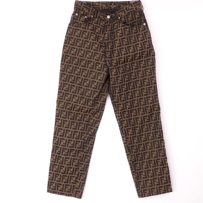 Vintage Fendi Excellent Zucca 44 US8 Jean Pants Clothing
