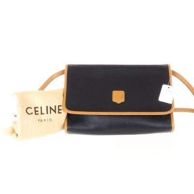 Vintage Celine NWT Excellent Bi Color 2way  Shoulder Bag