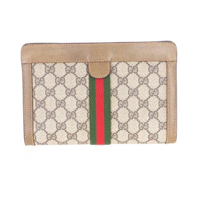 Vintage Gucci Pristine Excellent Mini Monogram Pattern Clutch Bag