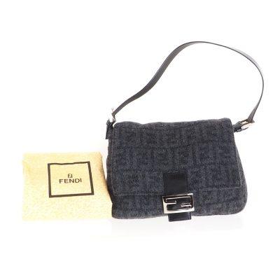 Vintage Fendi Mamma Baguette Zucca New Pristine Hand Bag
