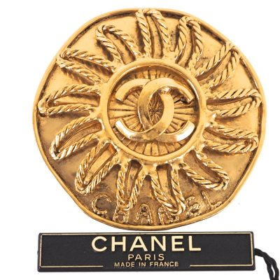 Vintage Chanel Extra Large Excellent Gold Brooch