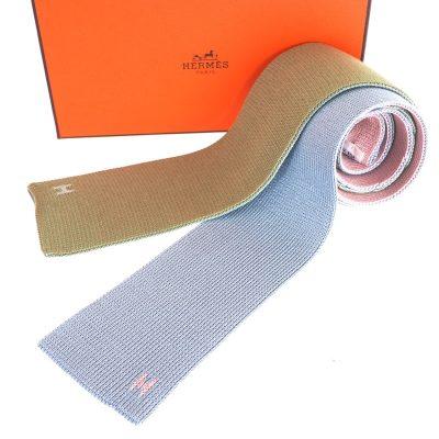 Vintage Hermes Silk Pastel Color Bowtie Scarf Neck Tie