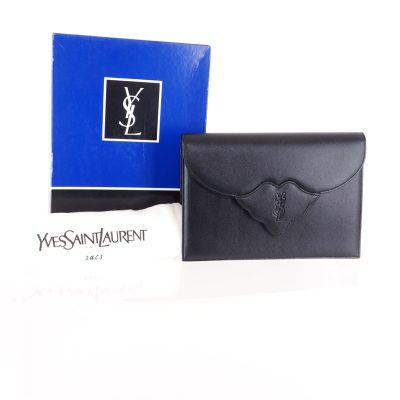 Vintage Yves Saint Laurent Pristine Excellent Black YSL Clutch Bag
