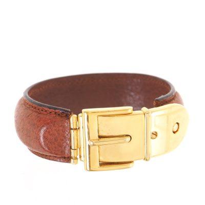 Vintage Gucci Excellent Wide Brown Bangle Bracelet