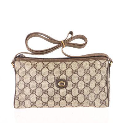 Vintage Gucci Monogram Long Strap GG Rare Shoulder Bag