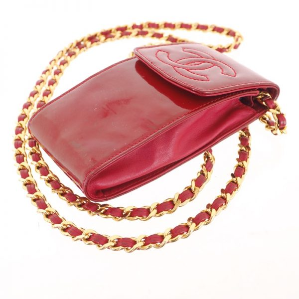 9a0716824ce5 Vintage Chanel Lipstick Red Key Chain Pouch Case Wallet - Nina ...