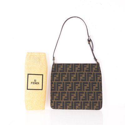 Vintage Fendi Zucca Monogram Pattern Excellent Condition  Hand Bag