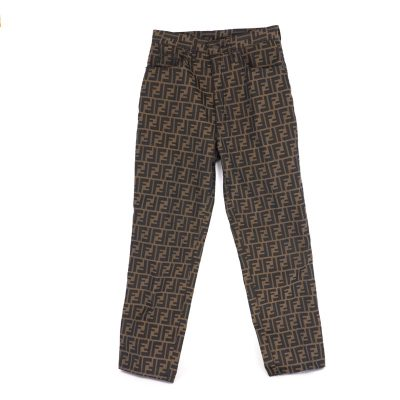 Vintage Fendi Italy 44 30 inch US12 Monogram Zucca Jeans Pants Clothing