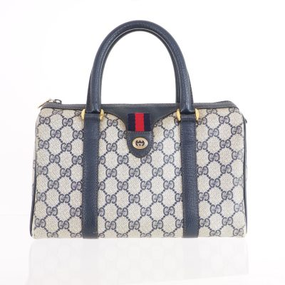 Vintage Gucci Mini Speedy Monogram Blue Red  Hand Bag