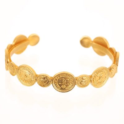 Vintage Chanel Coin Medallion Coco Portrait Bangle Bracelet