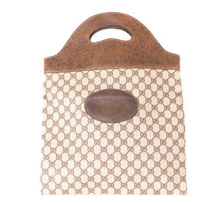 Vintage Gucci Monogram Large Bi Fold CLutch Hand Bag