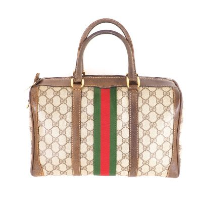 Vintage Gucci Monogram Large Hand Bag