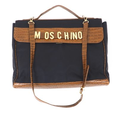 Vintage Moschino Dangle Charm Large Computer  Hand Bag